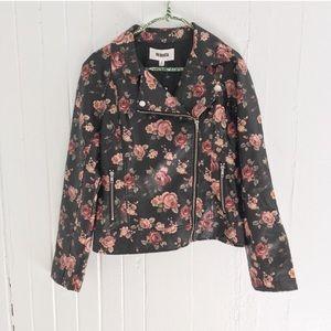 NWT BB DAKOTA Vegan Faux Leather Floral Jacket